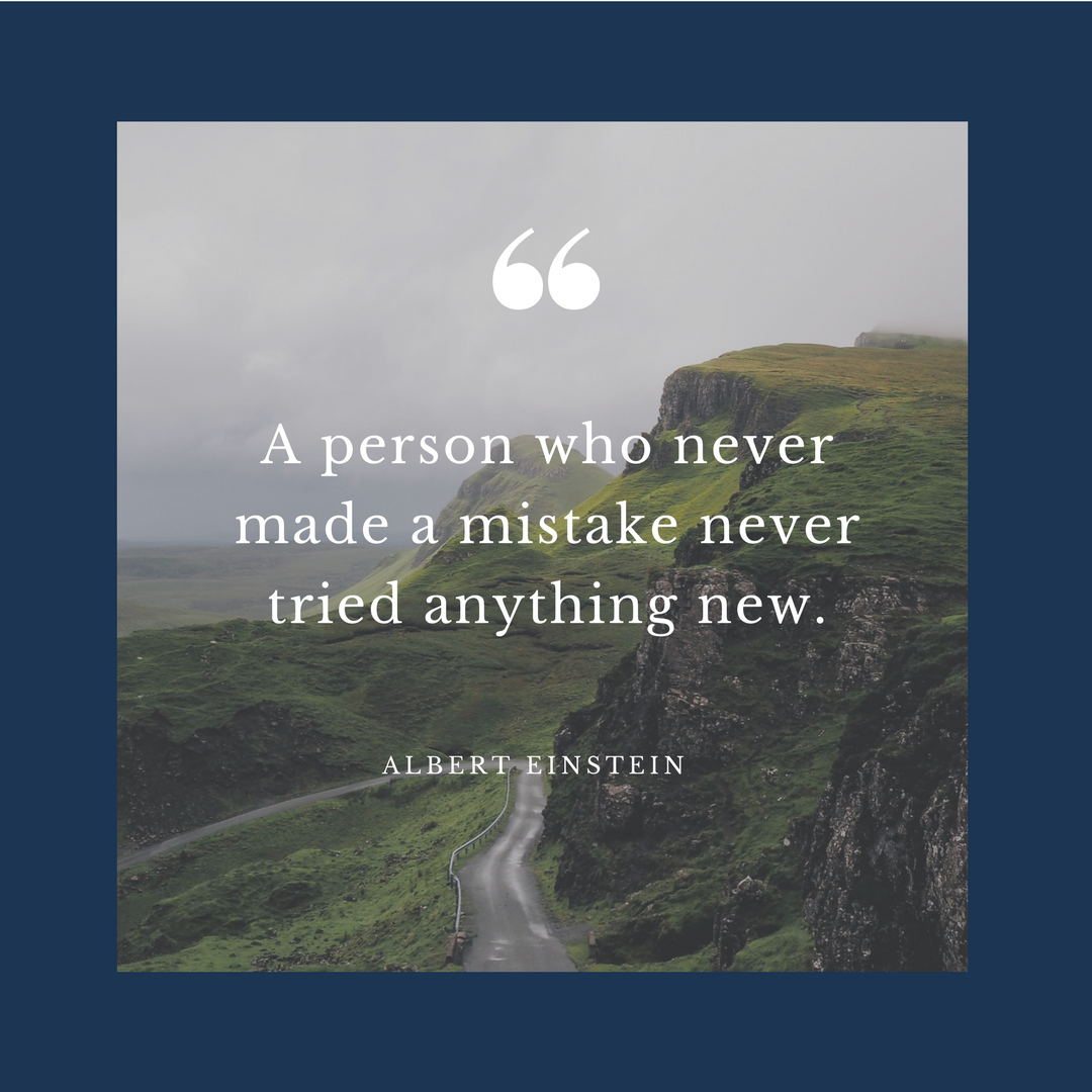 Motivational Quote from Albert Einstein - A person who never made a mistake never tried anything new