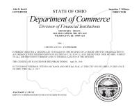 Ohio CSO state license